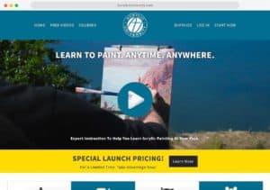 acrylic university web design