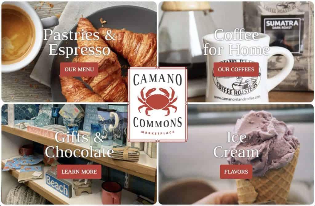 camano commons marketplace web design