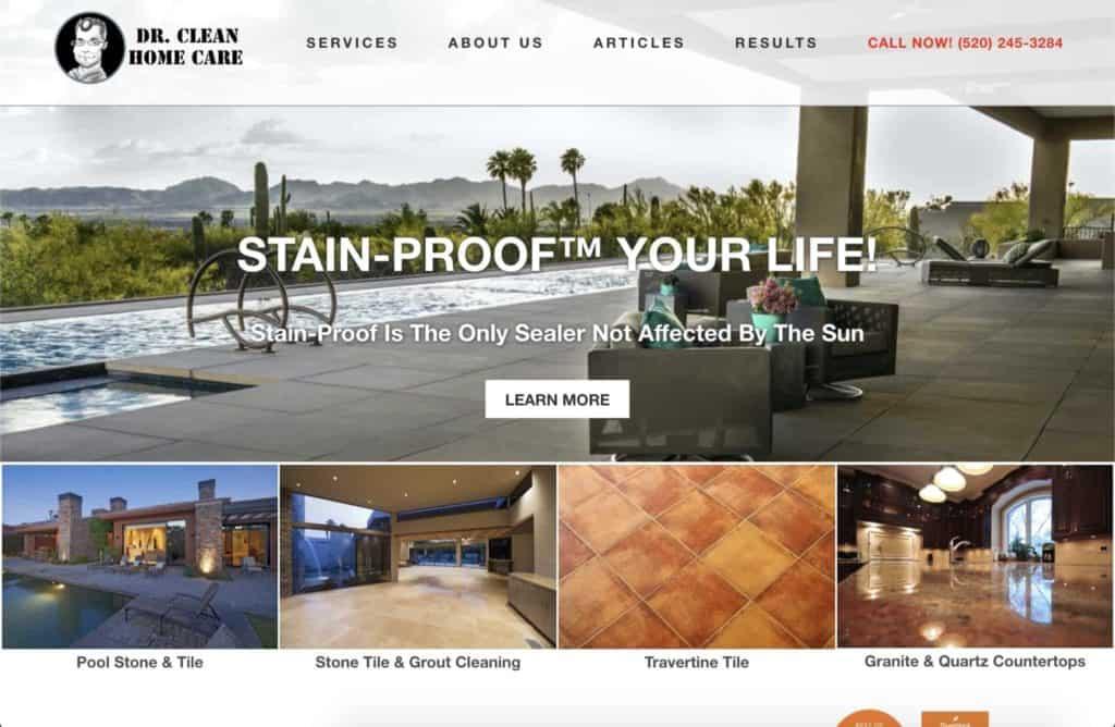 dr clean tucson website design