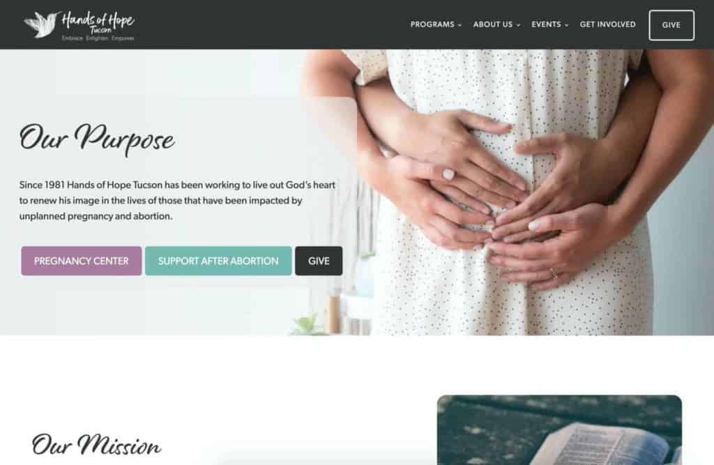 hands of hope website makers