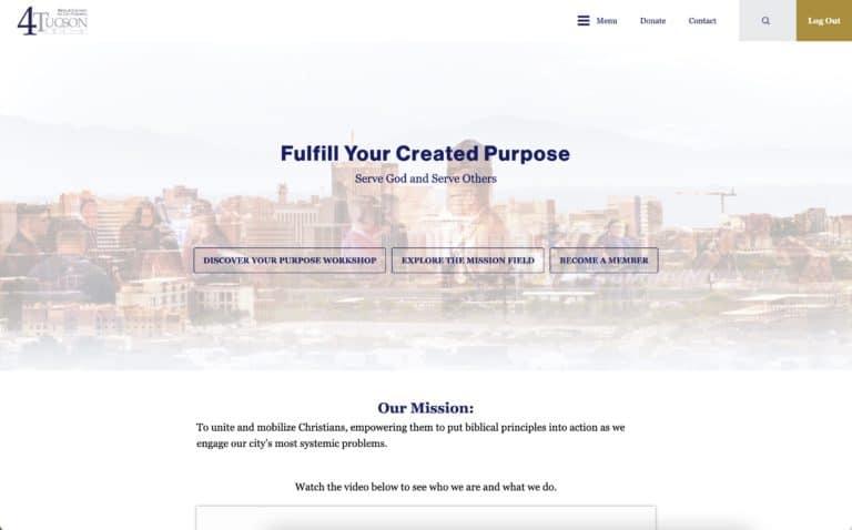 4tucson nonprofit website design gallery 1