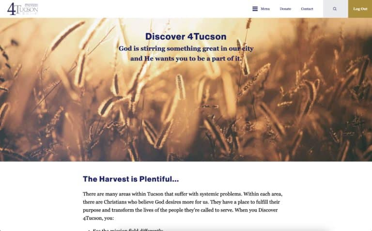 4tucson nonprofit website design gallery 4