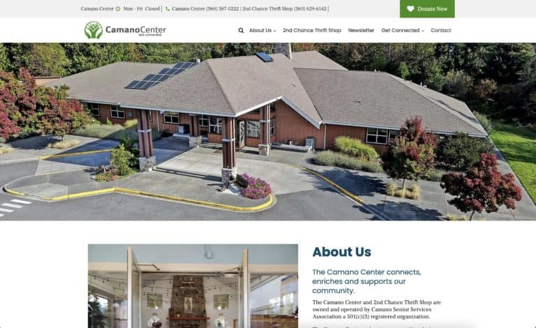 Camano Center Web Design Gallery 1