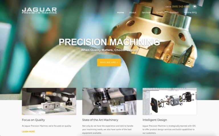 Jaguar Precision Machine website design gallery 1