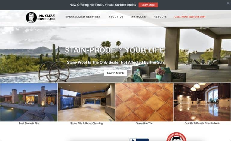 dr clean home care website gallery 1