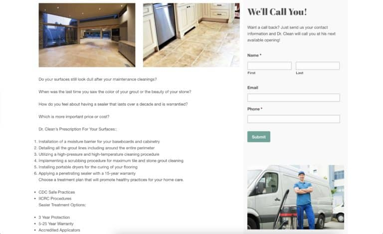 dr clean home care website gallery 3
