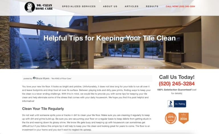 dr clean home care website gallery 5