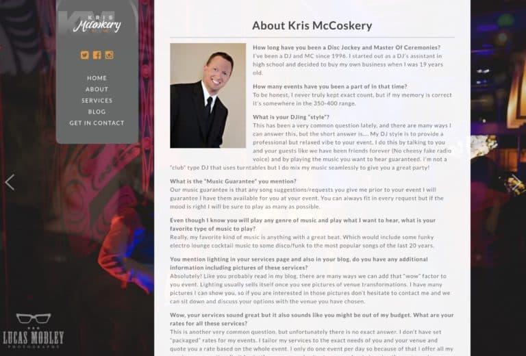 kris mccoskery web design gallery 2